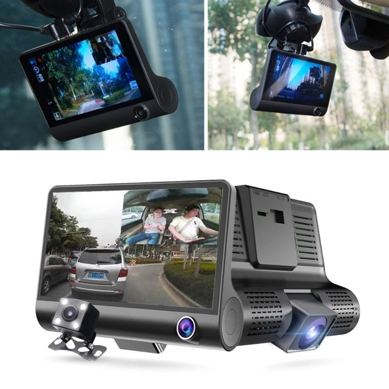 Автомобильный регистратор Video Car DVR WDR с тремя камерами