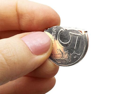 Складная монета 5 рублей