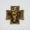 "Подвеска ""Крест"" (цвет - античная бронза) 24х22 мм"