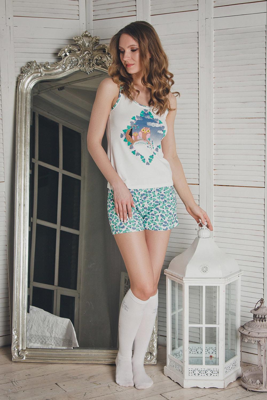 Красивая пижама женская с совой (Женские пижамы)