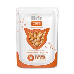 Brit Care Пауч д/кошек Chicken&Cheese Курица и сыр, 80г