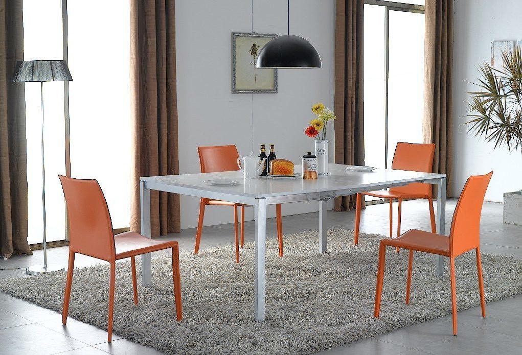 Стол ESF LT2306 белый, стулья ESF 3018