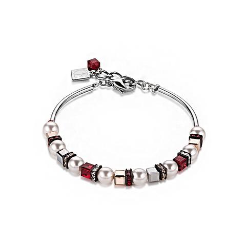 Браслет Coeur de Lion 4815/30-0321 цвет белый, красный