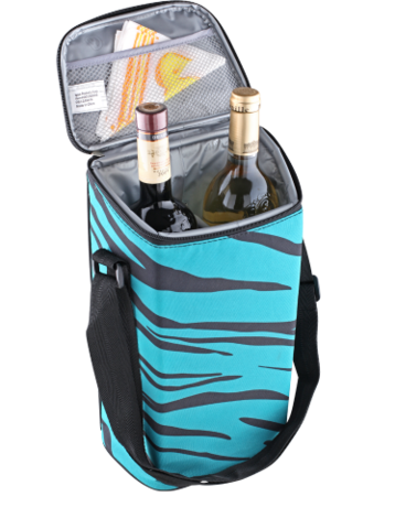 Сумка-холодильник Igloo 2 Bottle Wine Tote 16 (синий, зебра)