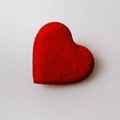 Сердце мягкое на прищепке малое