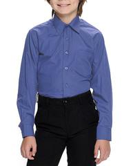 616D-8 рубашка для мальчиков, синяя