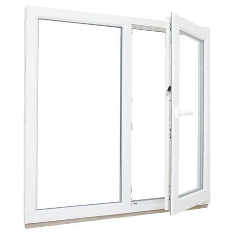 Окно ПВХ двустворчатое 116х120 см глухое/поворотное правое по ОПТОВОЙ цене - Купить в Казани