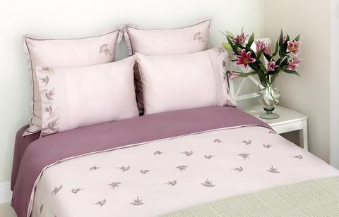 Постельное белье 2 спальное евро Bovi Gardenia лиловое