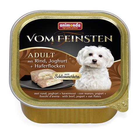 Консервы Animonda Vom Feinsten Adult Меню для гурманов с говядиной, йогуртом и овсяными хлопьями для взрослых привередливых собак