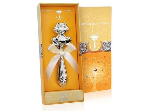 Серебряная погремушка «Лягушка»