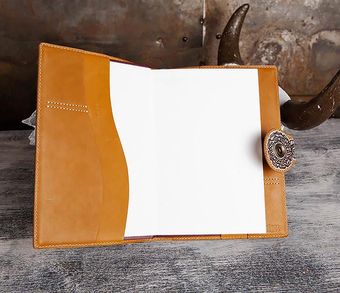 BY05-17-01 Оригинальный ежедневник в обложке из натуральной кожи фото 06