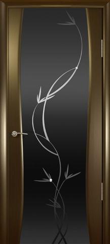 Дверь Океан Гламур Буревестник-2, стекло тонированное с рисунком, цвет венге, остекленная