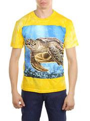 6891-4 футболка мужская, желтая