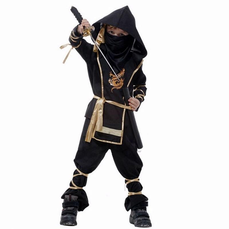 Детский костюм Ниндзя золотой Дракон