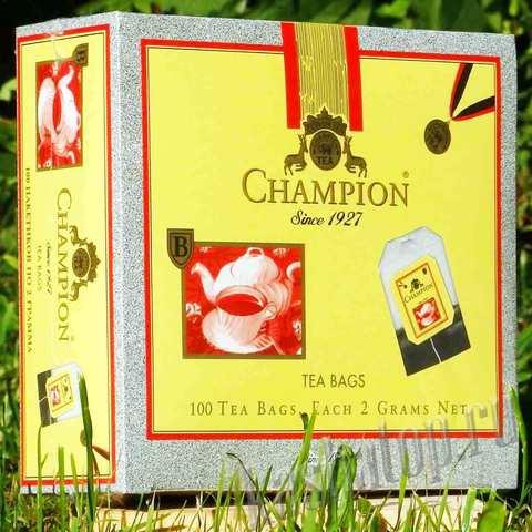 Чёрный чай Champion, 100 пакетиков в интернет-магазине Каша из топора