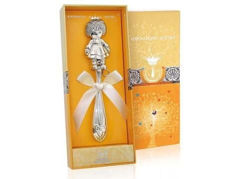Серебряная погремушка «Кукла»