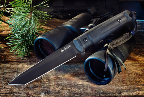 Тактический нож Aggressor AUS-8 Black Titanium