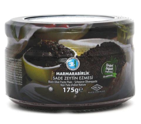 Оливковая паста черная без специй, Marmarabirlik, 175 г