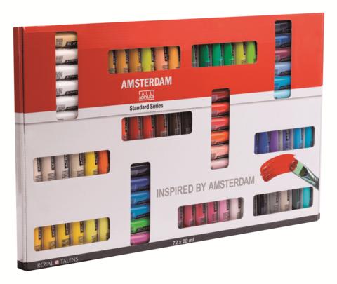 Набор акриловых красок Amsterdam Standart 72цвета*20мл