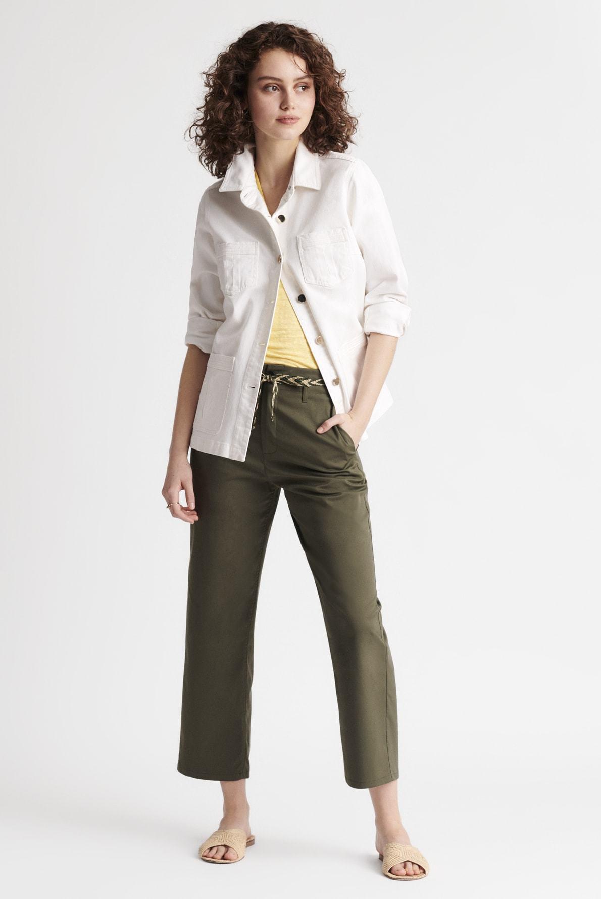 MARCELLA - Широкие брюки - стрейч длиной 7/8 из смесового хлопка