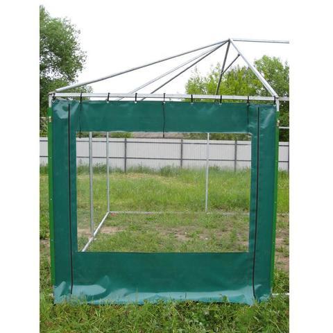 Стенка передняя к торговой палатке из прозрачной пленки ПВХ