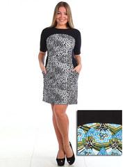 105-5 платье женское, черное