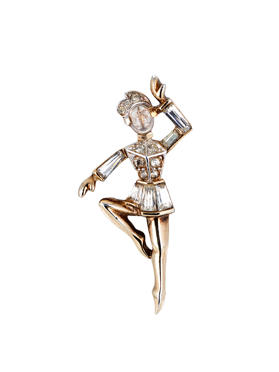 """Редкая брошь """"Танцор балета"""" от Trifari, 1949 год"""