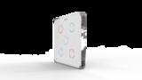 Выключатель пятиканальный Heltun (Белая панель, Хромированная рамка)