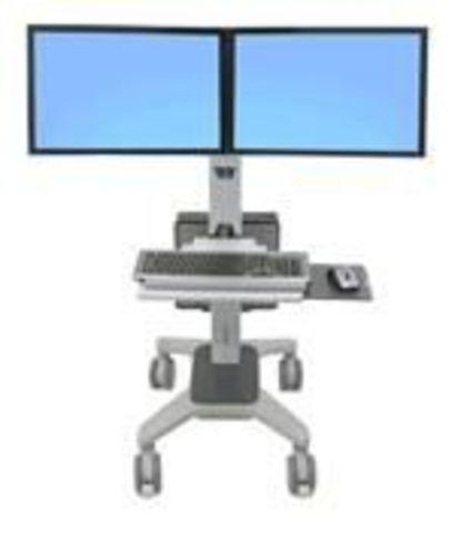 Ergotron Neo-Flex Dual WideView WorkSpace Мобильный стенд для двух мониторов (Эрготрон 24-194-055)