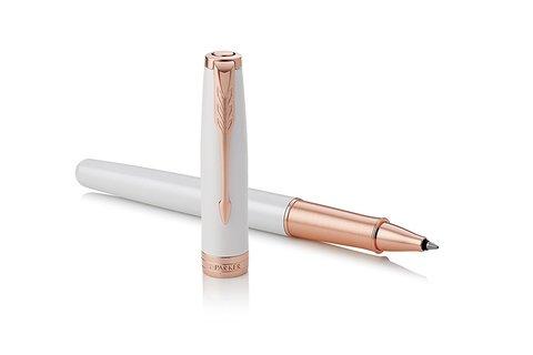 Ручка роллер Parker Sonnet Pearl White Lacquer PGT123