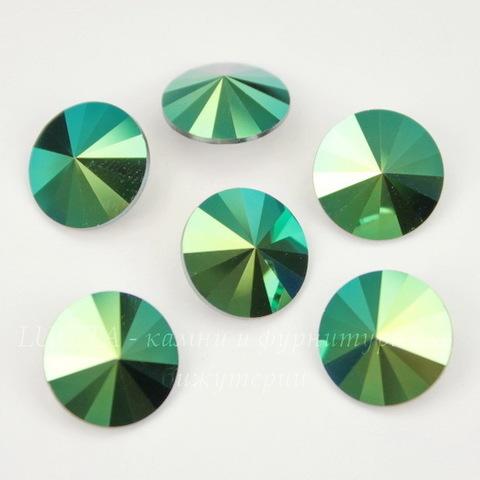 1122 Rivoli Ювелирные стразы Сваровски Crystal Scarabaeus Green (12 мм)