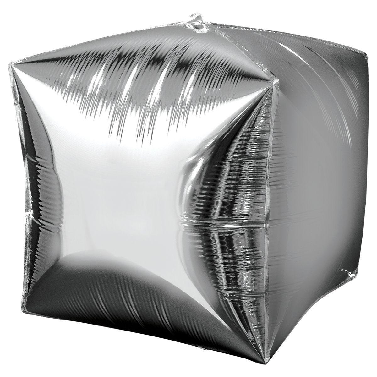 Шар «Куб» Серебро 40 см