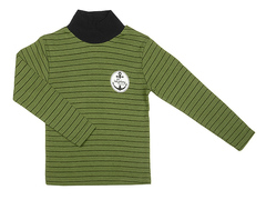 002-18 водолазка детская, зеленая