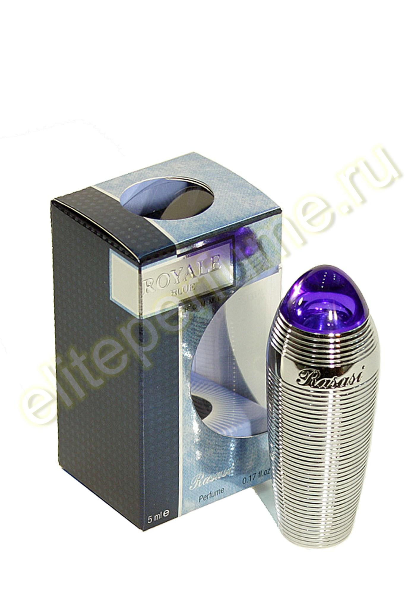 Синий  Royal Blue homme 5 мл арабские мужские масляные духи от Расаси Rasasi Perfumes
