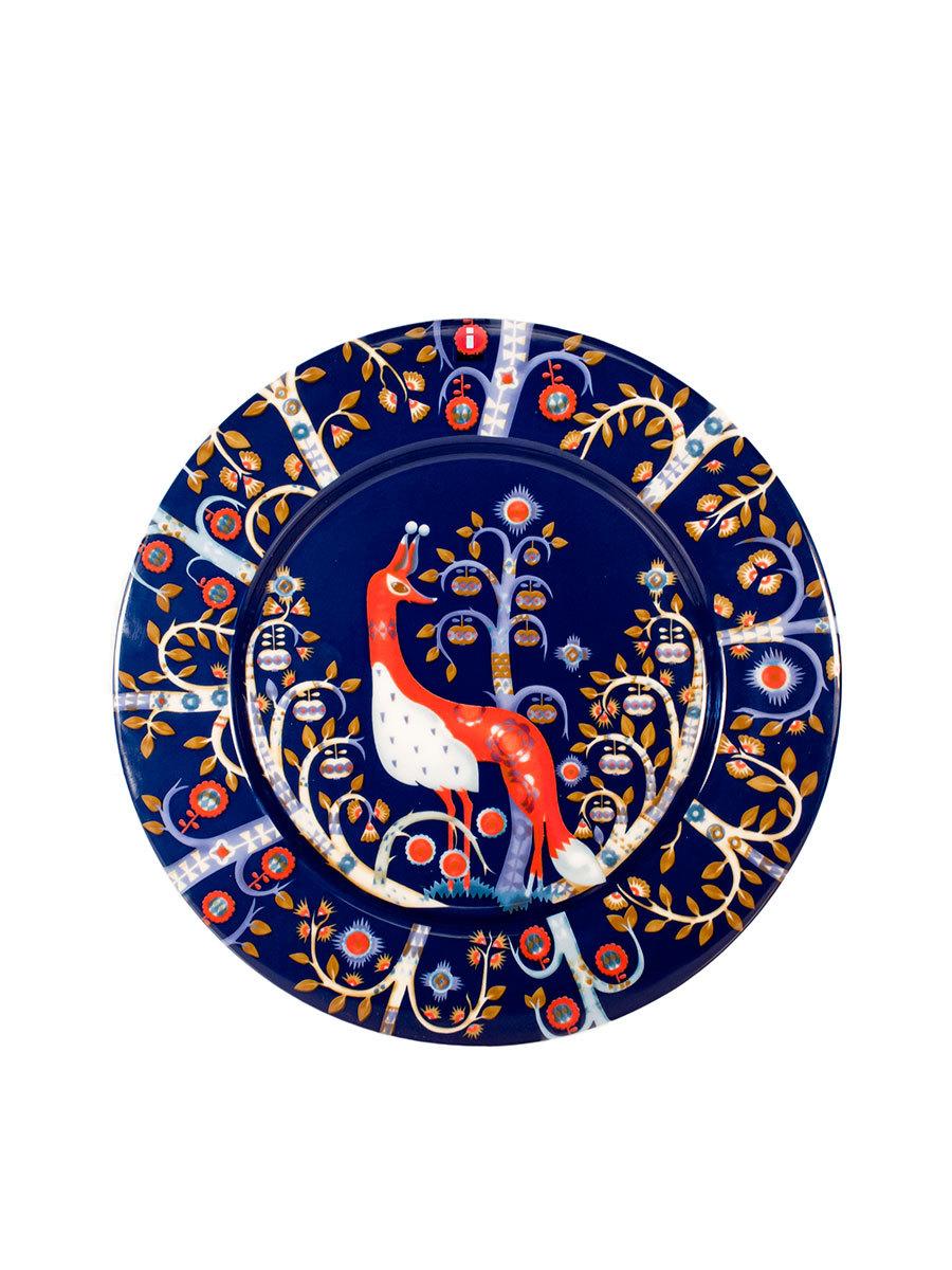 Тарелка Тайка 22 см синяя