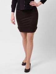 5501 юбка темно-коричневая