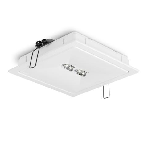 Светильники аварийного освещения высоких помещений ONTEC R F2 с рамкой – общий вид