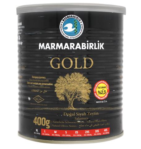 Оливки черные GOLD XL, Marmarabirlik, 400 г
