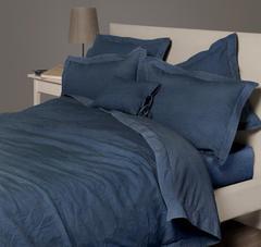 Постельное белье 2 спальное евро Bovi Eco индиго