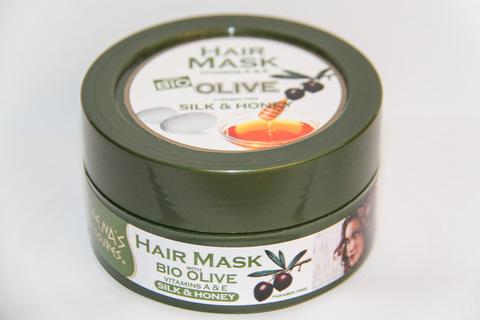 Греческая оливковая восстанавливающая маска для волос с медом и протеинами шелка