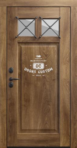 Входная дверь «Loft 8» в цвете, Дуб Whiskey (массив дуба)