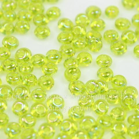 0164 Бисер японский TOHO Magatama 3 мм, радужный зеленый лайм
