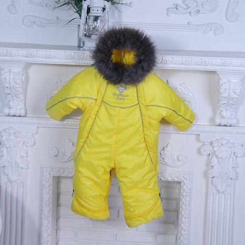 Зимний комбинезон трансформер Снежинка (желтый)