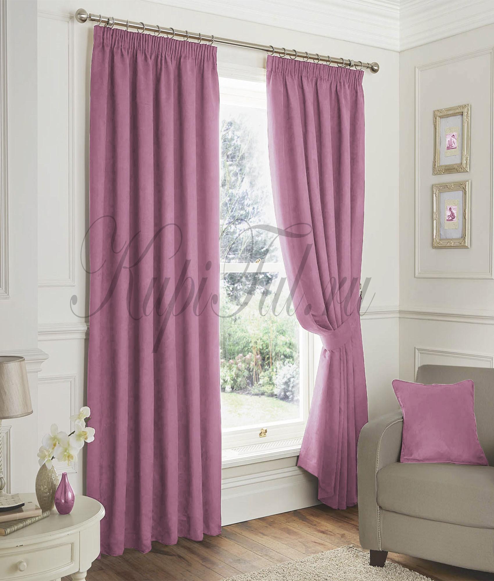 Elton (Розовый). Готовые шторы.