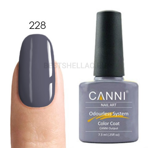 Canni Canni, Гель-лак 228, 7,3 мл 228.jpg