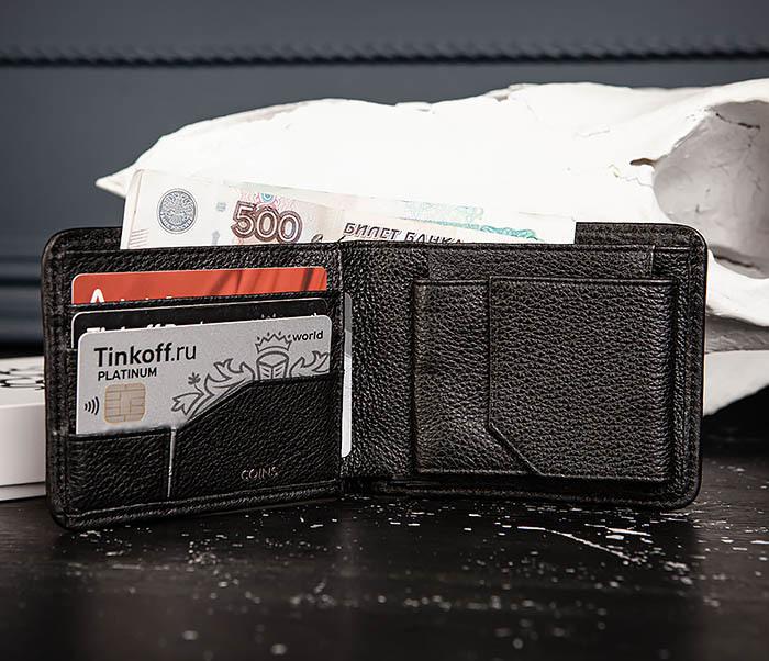WL334-4 Классическое портмоне с монетницей из кожи «Onyx» фото 06