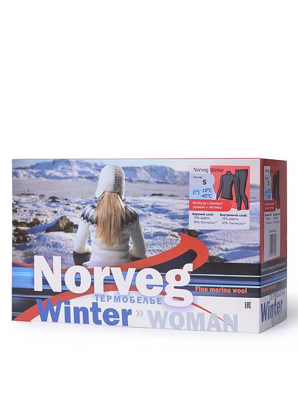 Комплект термобелья женский Норвег винтер с шерстью мериносов