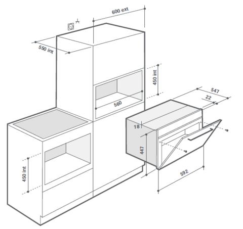Компактный духовой шкаф De Dietrich DKR7580G