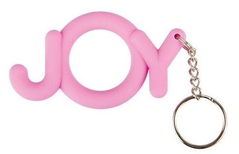 Эрекционные кольца: Розовое кольцо-брелок Joy Cocking