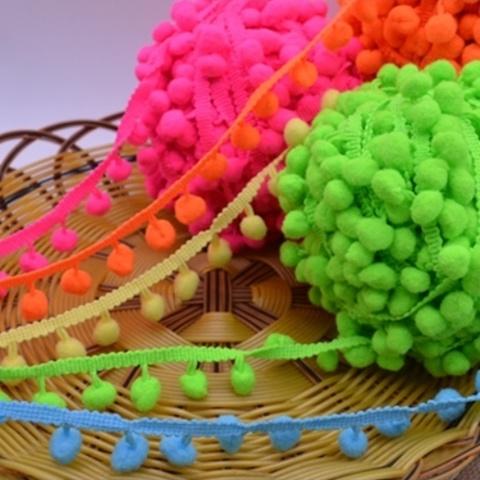 Тесьма с шариками 2,5 см (выбрать цвет)